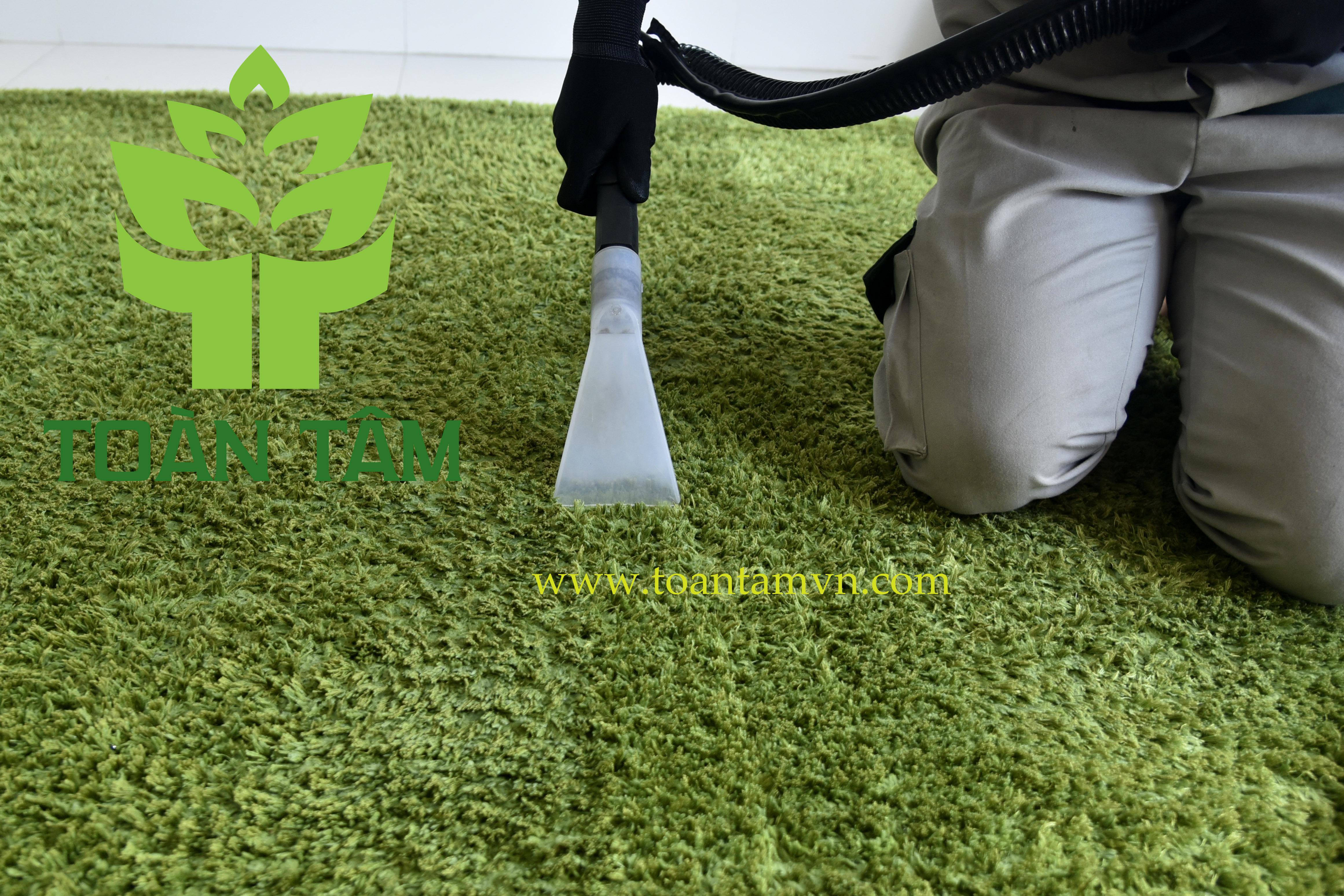 Dịch vụ giặt thảm trải sàn chuyên nghiệp của Toàn Tâm
