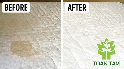 Cách làm sạch nệm bị bẩn do các loại chất lỏng