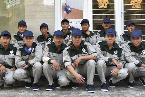 Đội ngũ nhân viên được đào tạo chuyên nghiệp.